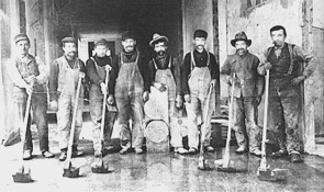 Terrazzo sliping før 1920