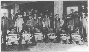 Terrazzo sliping etter 1920