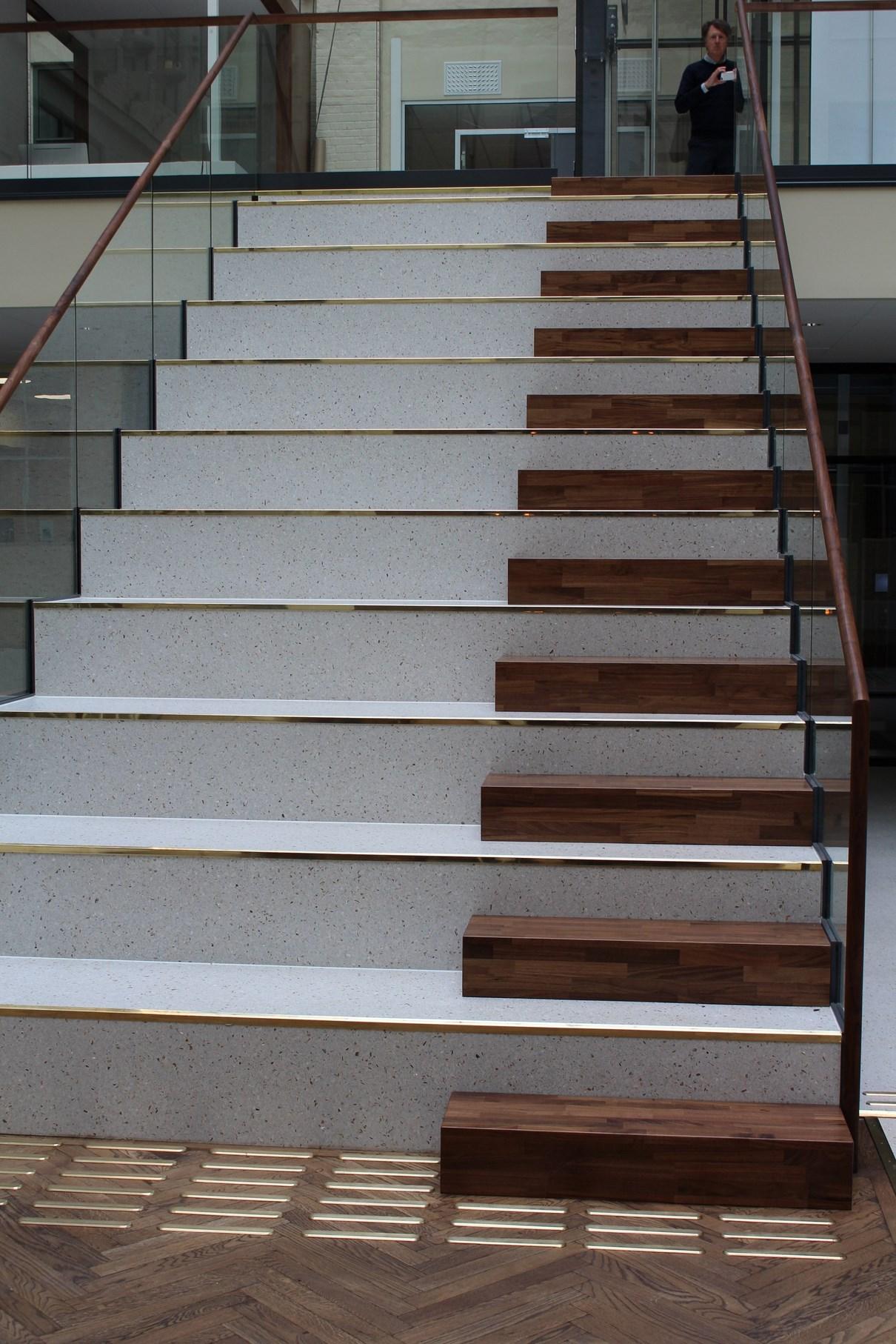 terrazz i trapp Sjøfartsmuseet