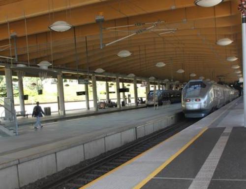 Barrikade Steinbelegg på togstasjon