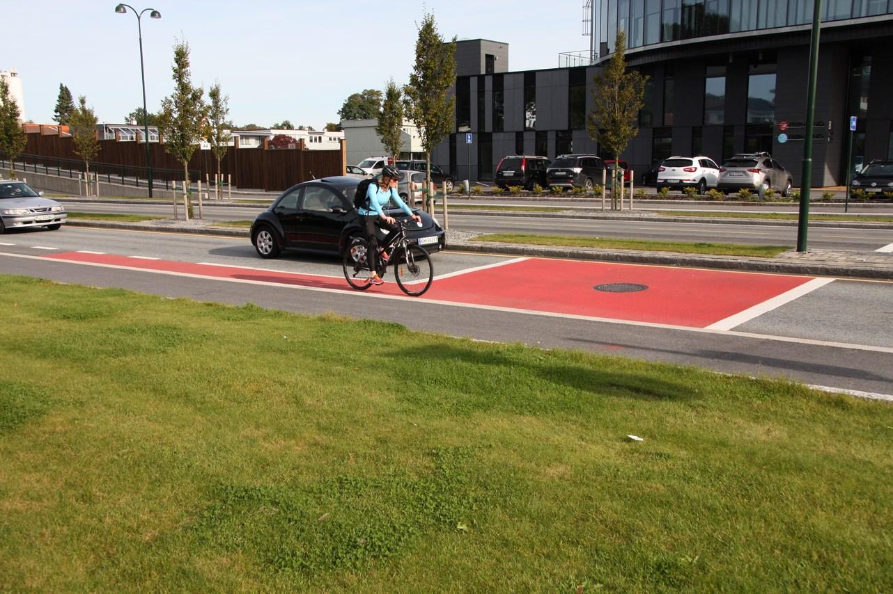 Røde sykkelstier