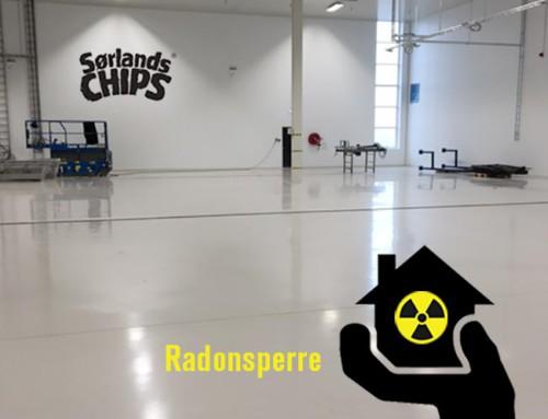 Radonsperre og industribelegg hos Sørlandschips – to fluer i et smekk