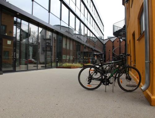 Skanska valgte Barrikade Steinbelegg til sitt nye hovedkvarter